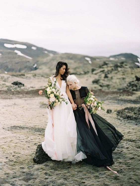 Best 25 Colored Wedding Dresses for the Fine Art Bride - Brumley and Wells and Leanne Marshall