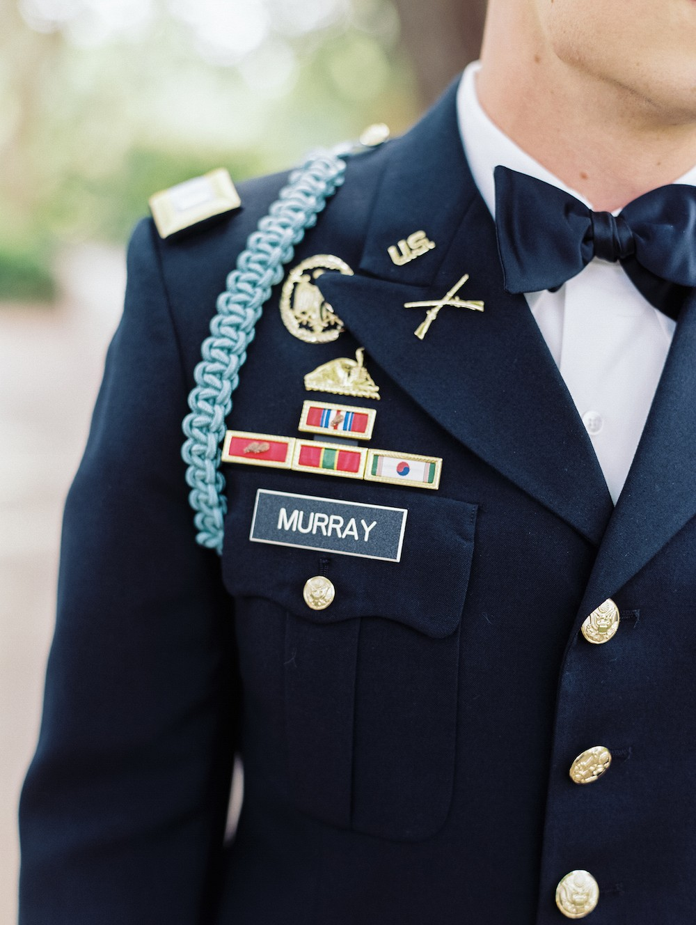 Claire and Chris' Patriotic Dallas Arboretum Wedding