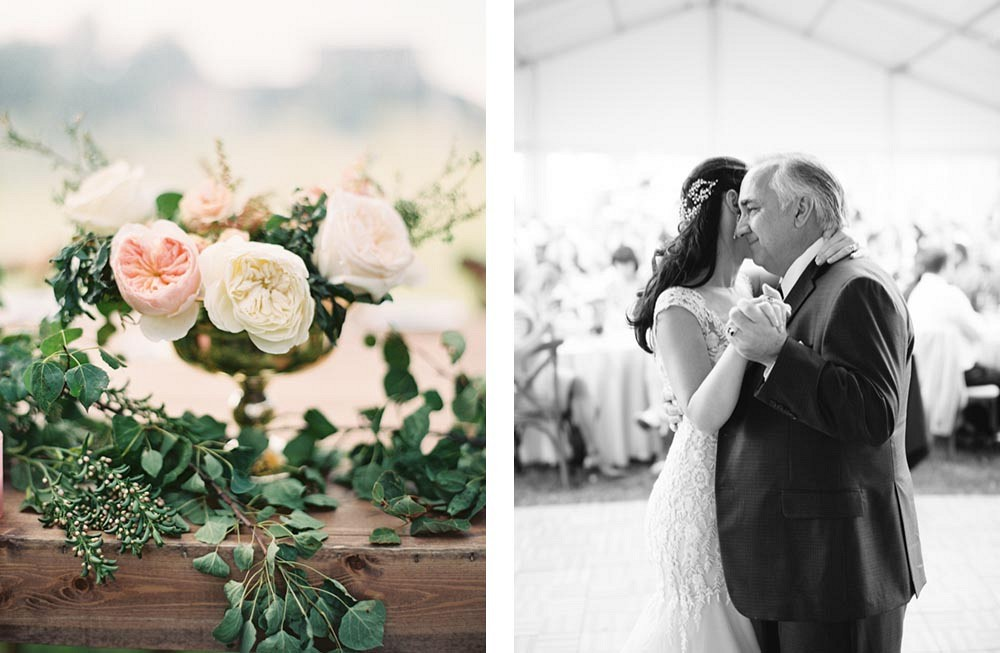 Nicole and Andrew's Stylish Outdoor Ranch Wedding by When He Found Her Photography | Wedding Sparrow