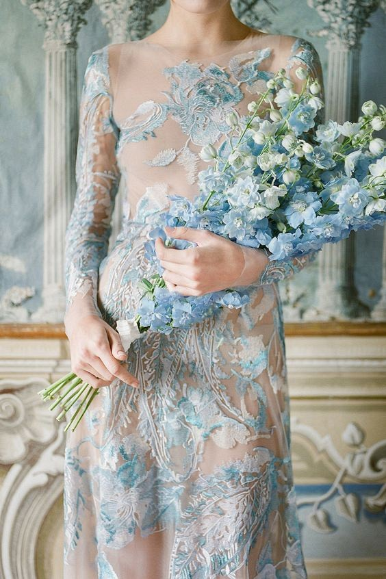 Best 25 Colored Wedding Dresses for the Fine Art Bride - Corbin Gurkin and Emily Riggs Bridal