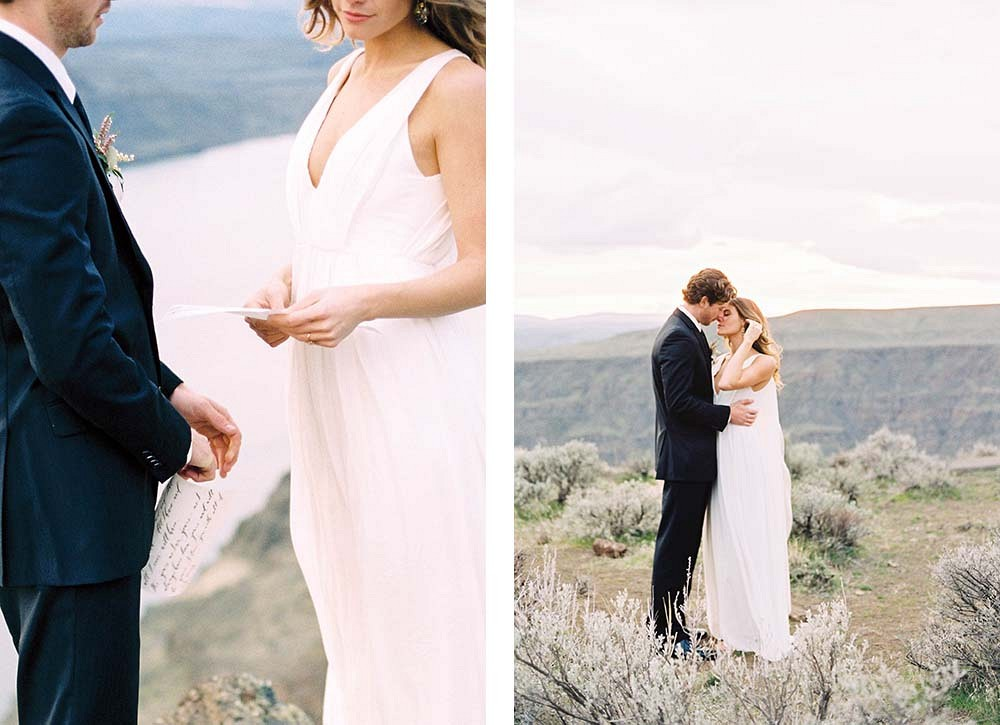 Organic Desert Elopement by Kerry Jeanne Photography | Wedding Sparrow