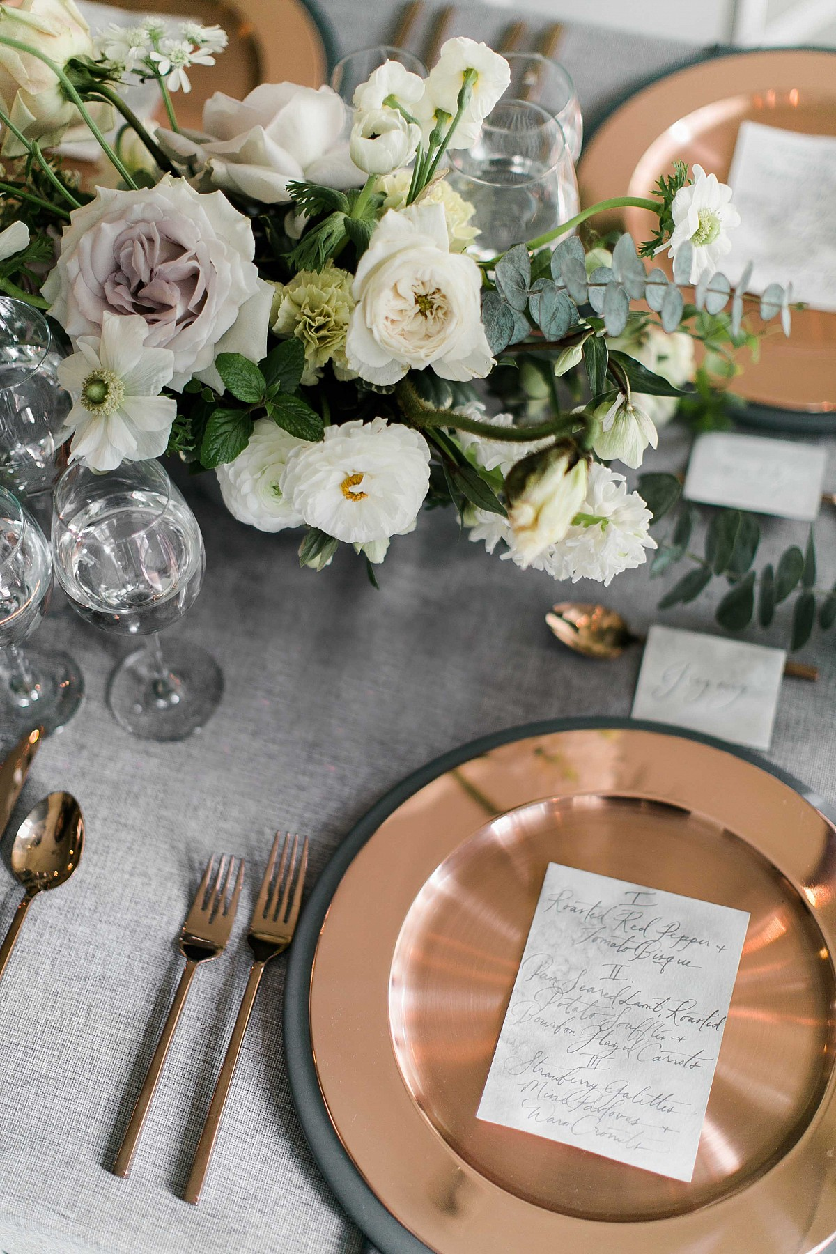 Indoor Wedding Ideas in a Smokey Grey