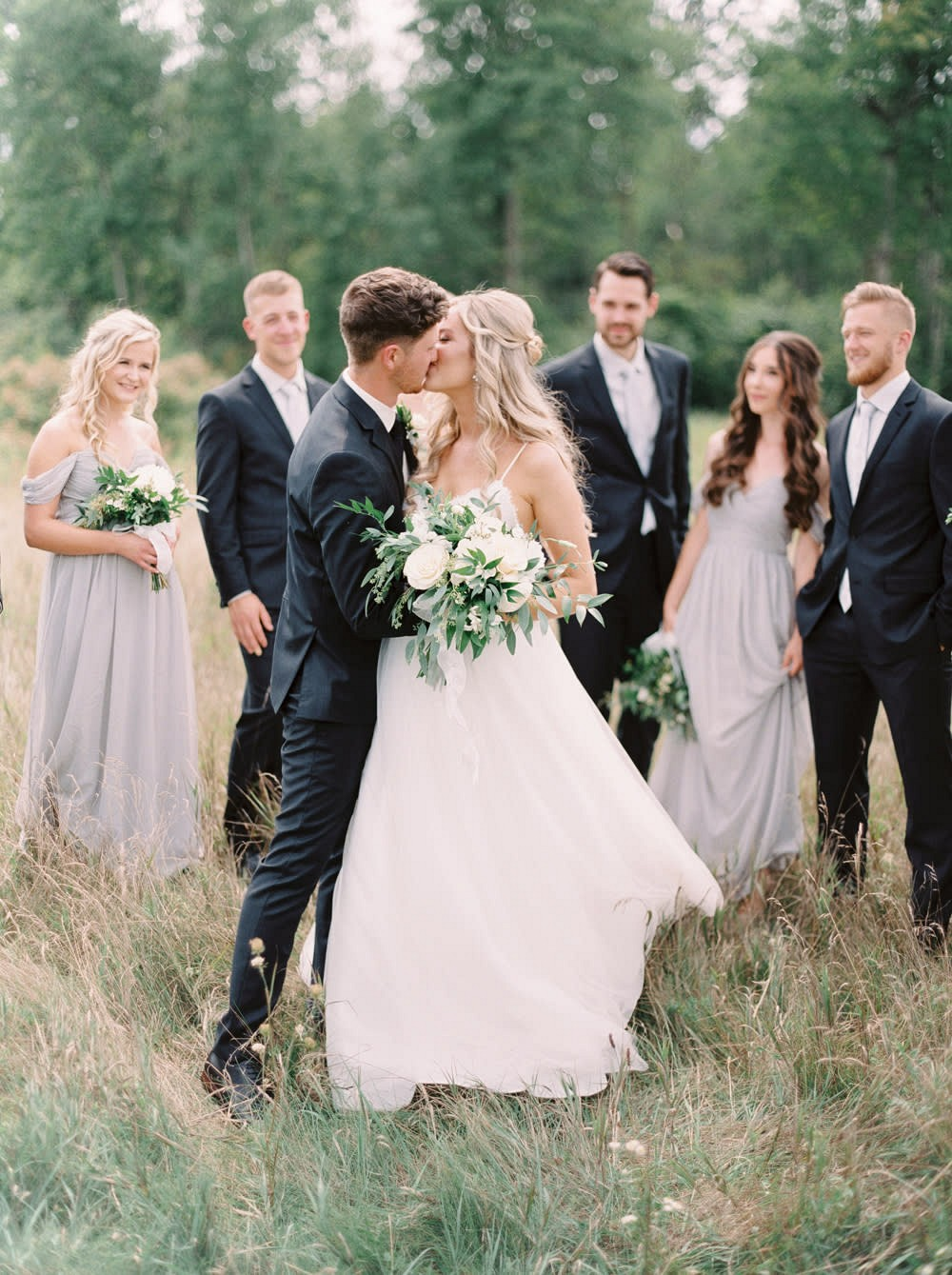 Barn Real Wedding with Green & White Florals