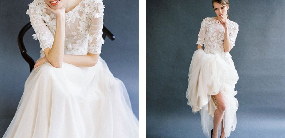 long sleeve wedding dresses we love | Wedding Sparrow