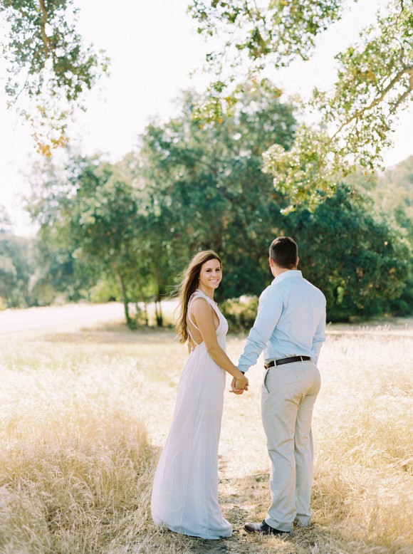Outdoor Engagement Session in California by Mariel Hannah on Wedding Sparrow