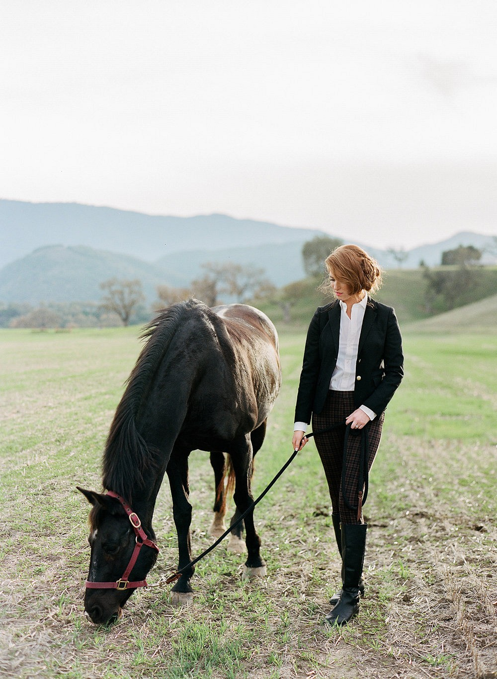 Equestrian style engagement session at Kestrel Park