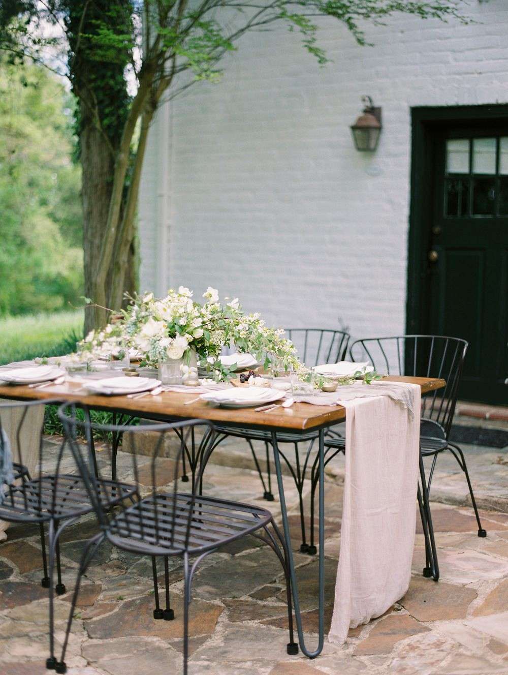 Kate and Scott's Classic, Neutral European-Inspired Garden Wedding