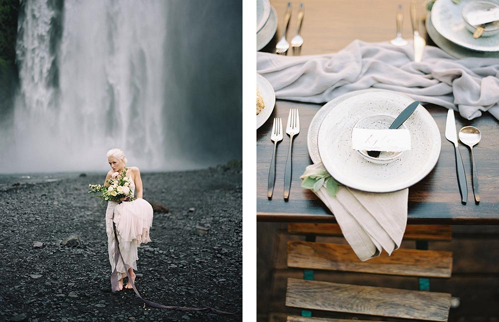 Iceland Wedding Inspiration by Brumley and Wells | Wedding Sparrow