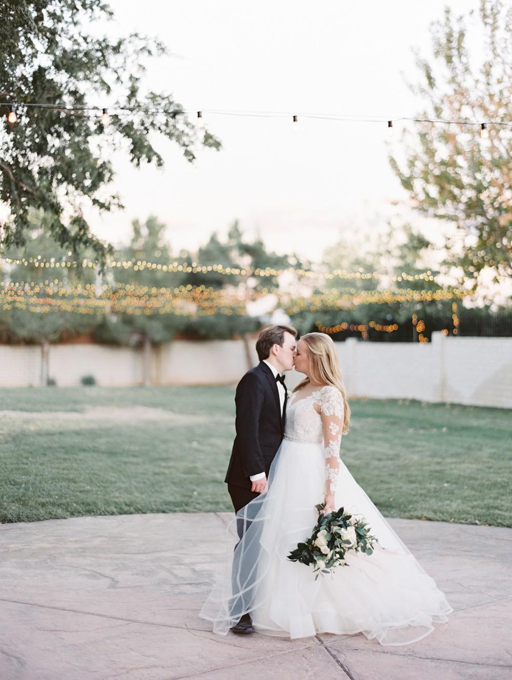 An Elegant Neutral Grey and Blue Ranch Wedding