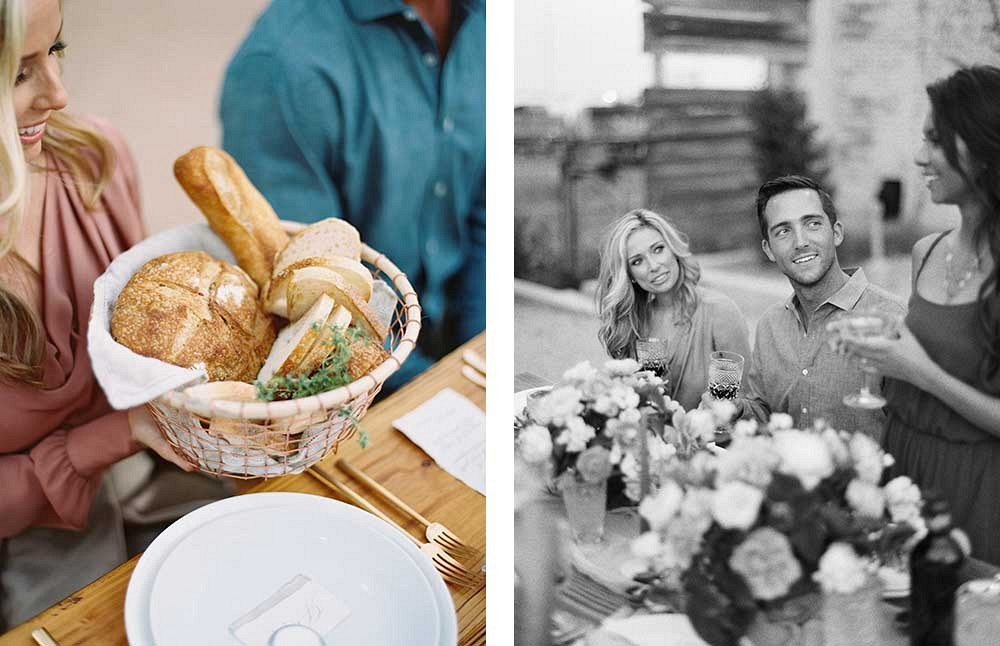 Thanksgiving Day Feast - old world inspired rehearsal by Allen Tsai Photography | Wedding Sparrow