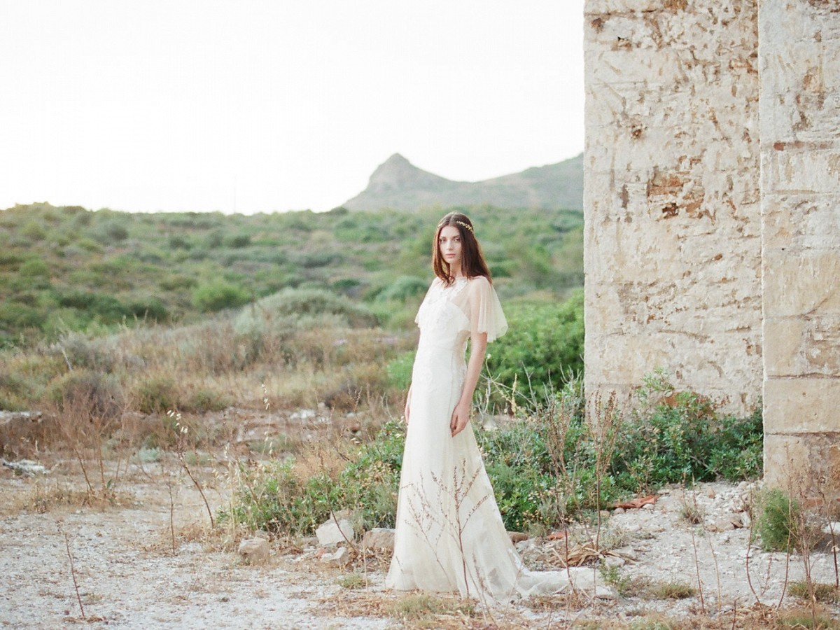 Bridal Session among Ancient Church Ruins in Greece by Vasia Photography on Wedding Sparrow
