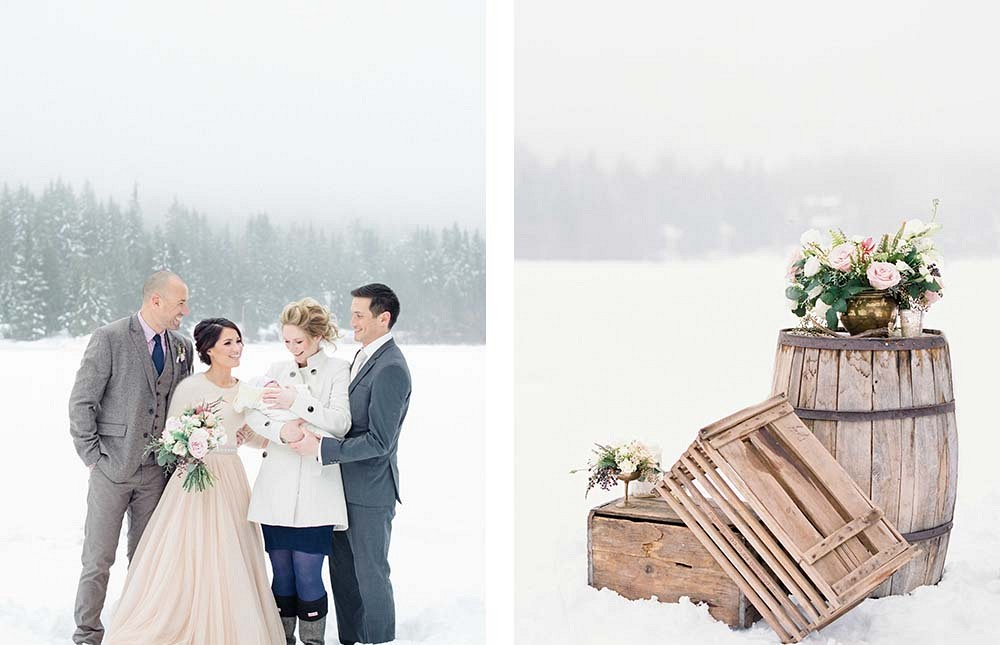 Winter Elopement in a BHLDN Gown by Christie Graham Photography | Wedding Sparrow