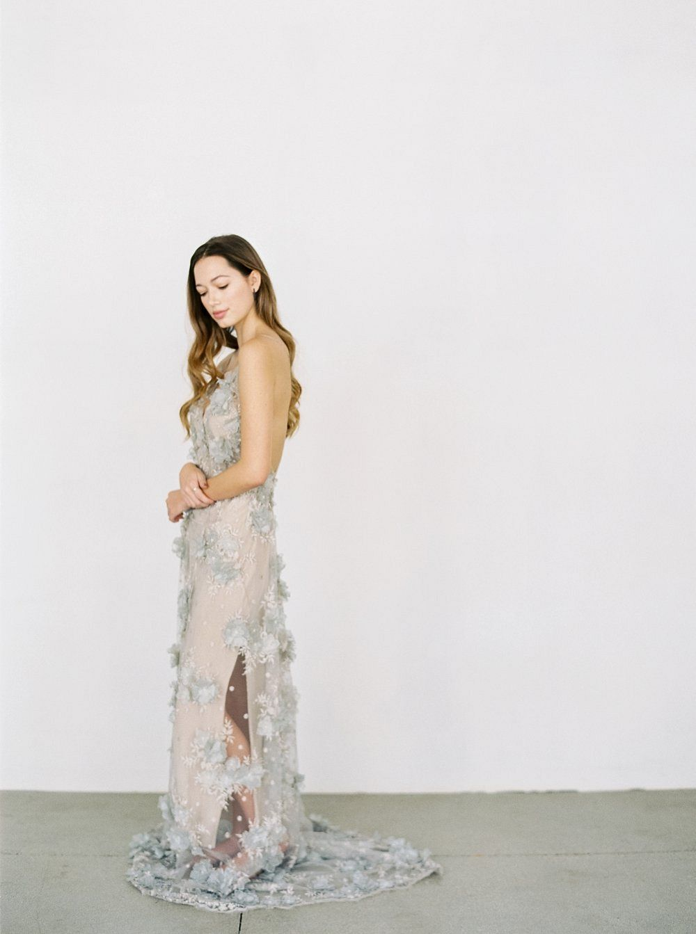 Handmade Wedding Gowns With Floral Applique By Gossamer