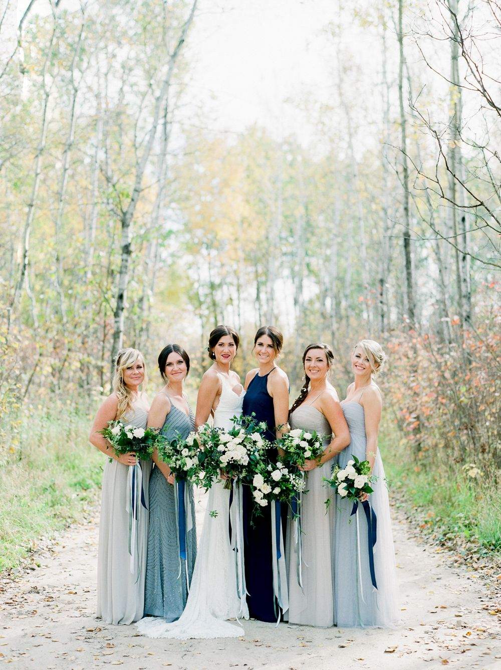 Brittany and Russ\' Blue, Grey, and Neutral Wedding by Brittany ...