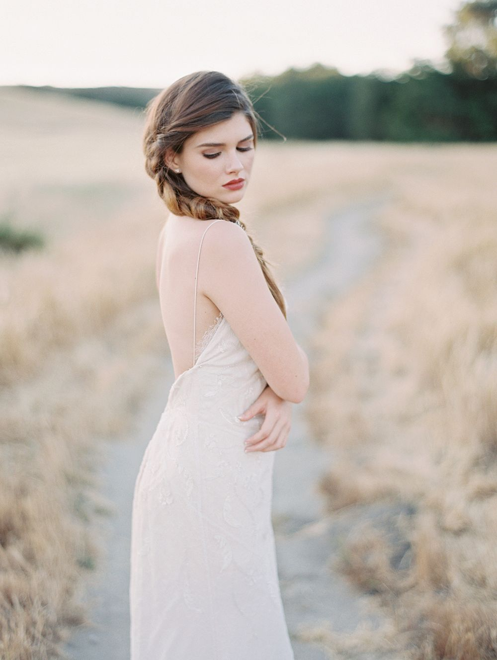 Braided Hair for a Spring Bride by Valentina Glidden   Wedding Sparrow