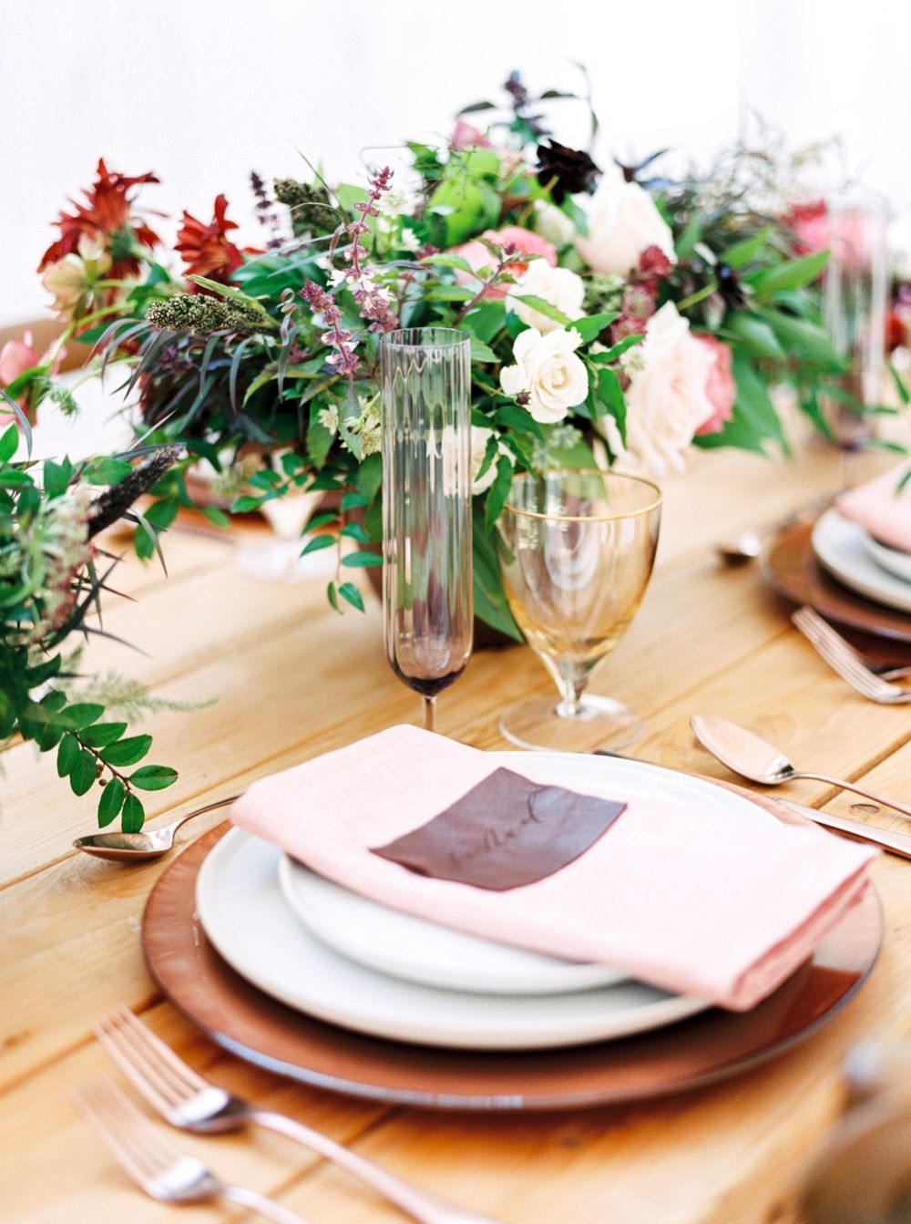 Gold and Burgundy Wedding Inspiration by Callie Manion Photography ...