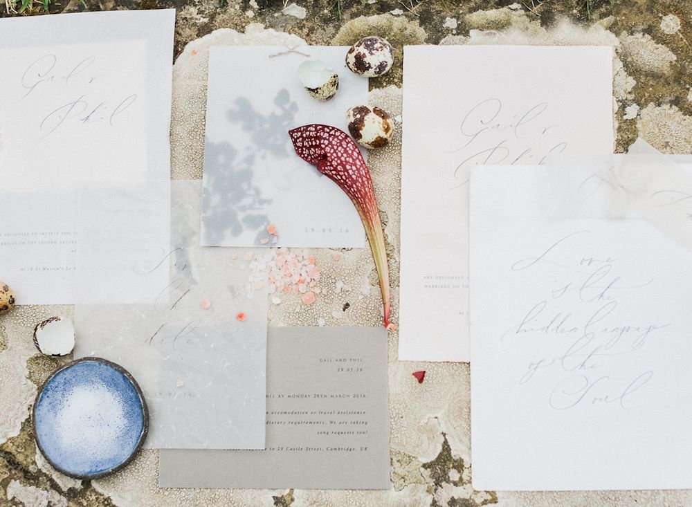 eclectic weddings, the little north sea studio stationery, suite one, lisa omm