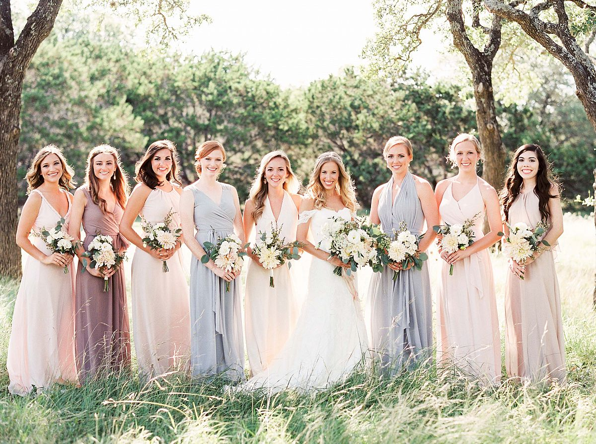 Neutral mismatched bridesmaids in real texas wedding by kristen neutral mismatched bridesmaids in real texas wedding ombrellifo Gallery