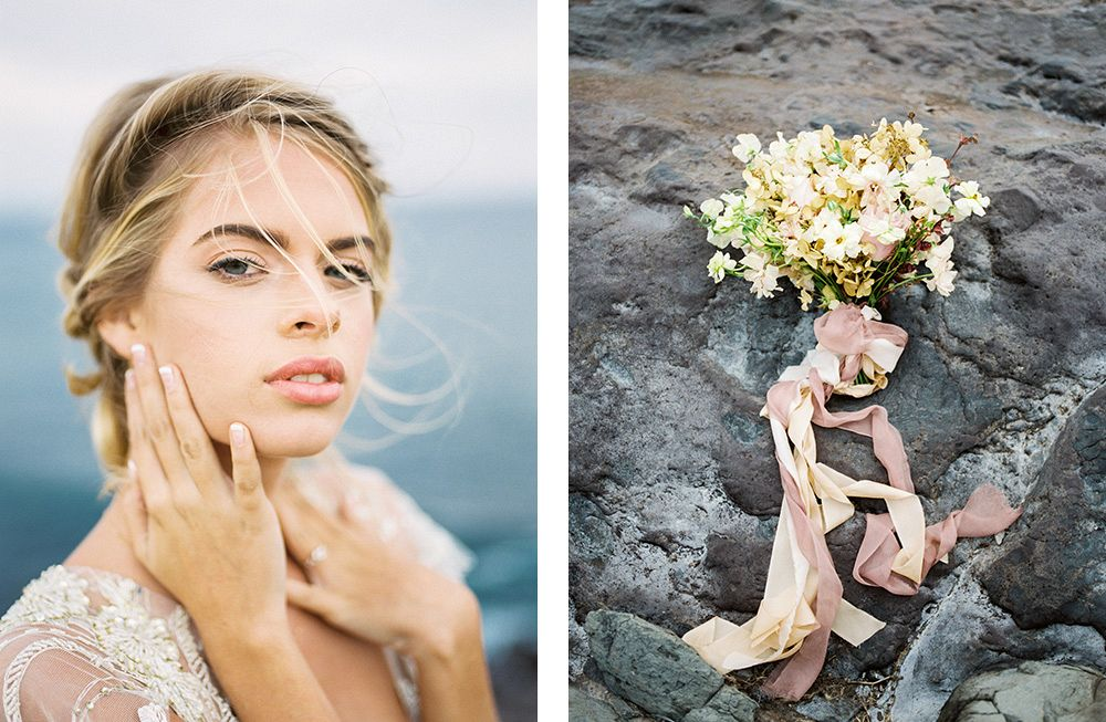 Blush And Gold Bridal Inspiration In Maui Wedding