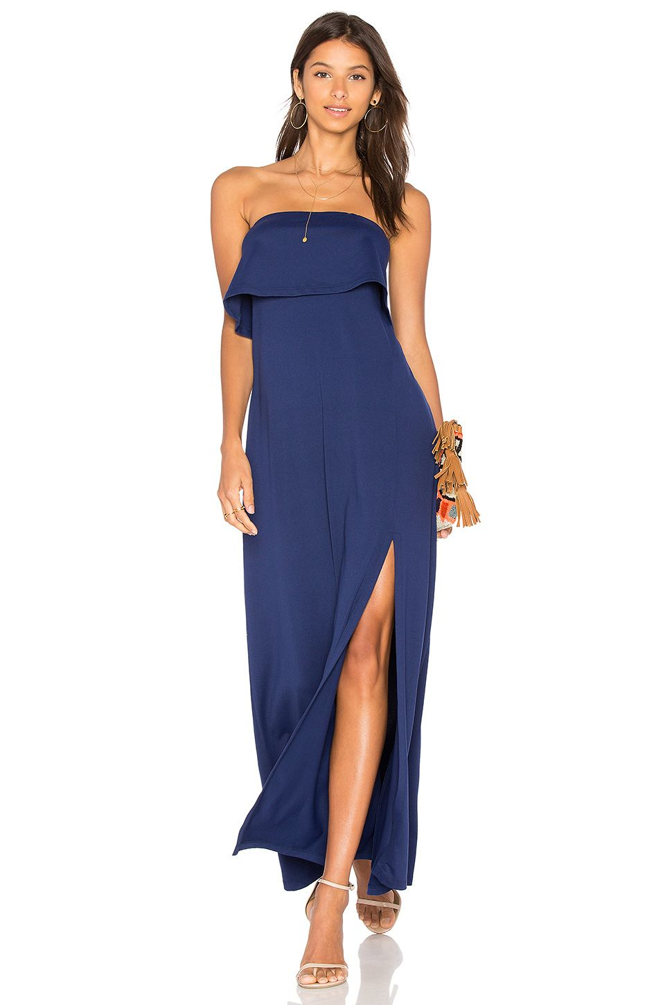 Bridesmaid dresses you can wear again wedding sparrow a navy colored strapless maxi 10 bridesmaid dresses ombrellifo Image collections