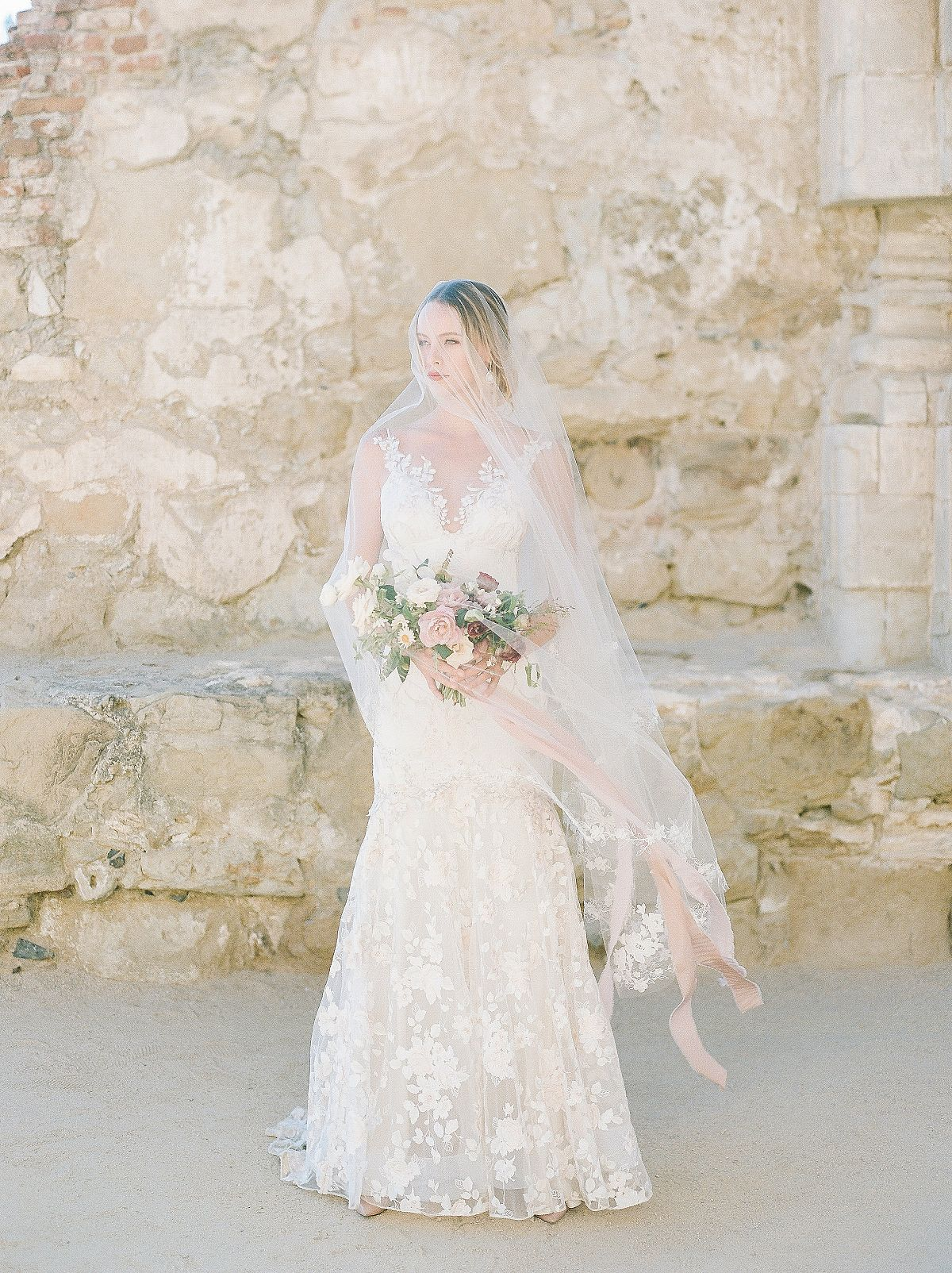 Spanish Mission Style Wedding Ideas with Claire Pettibone gown