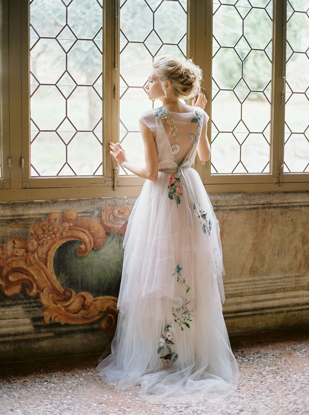 art nouveau wedding dress. romantic and organic art nouveau inspired wedding dress a