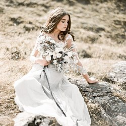 Ethereal Mountainside Bridal Session