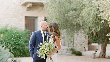 Soft Grey Blue And Sage Green Inspired Real Wedding