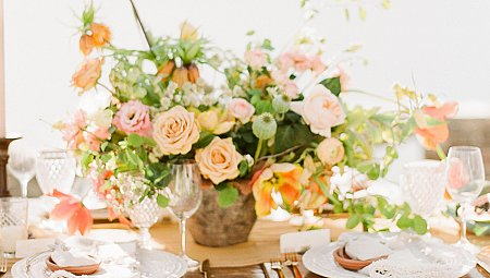 Mexico inspired tablescape at God's Mountain Estate