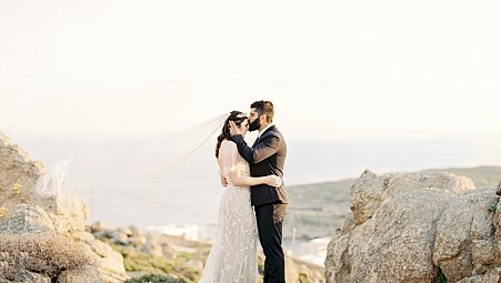 Romantic Elopement in Mykonos, Greece