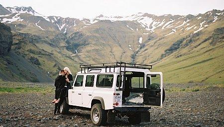 Stylish Lifestyle Engagement Shoot in Iceland