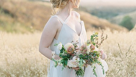 Natural Californian Bridals in Carol Hannah gown