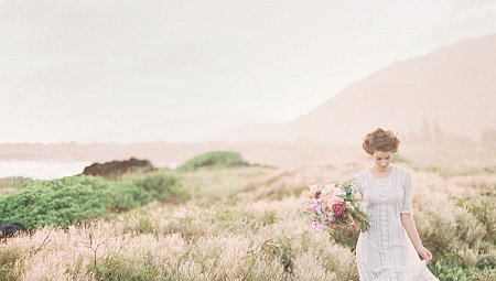 Vintage Lace Wedding Gown with a Boho Twist