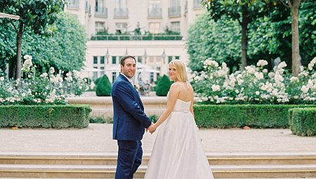 Alex and David's Romantic Destination wedding at the Ritz Paris
