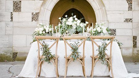 Romantic Wedding Ideas with Eucalyptus Garland