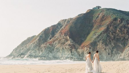 Two Brides at Half Moon Bay