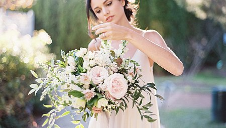 White and Natural Green Bridal Inspiration in Maryland