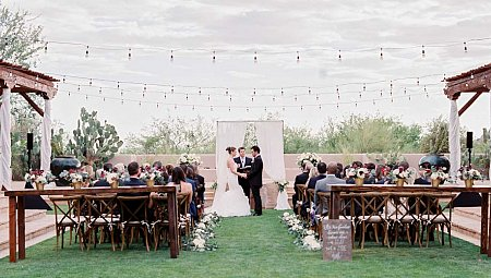 Victoria and Kyle's Ivory and Plum Wedding