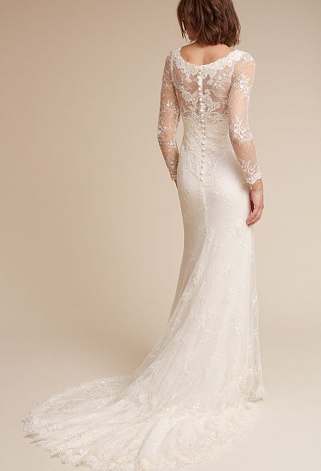 Anja Long Sleeve Lace Gown