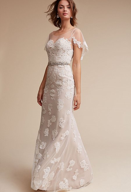 Sierra Gown with Flutter Sleeves