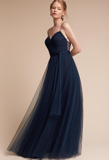 Tulle Bridesmaid Dress in Indigo