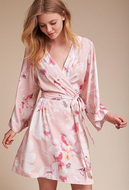Morning Light Floral Robe