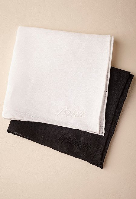 Bride and Groom Handkerchiefs