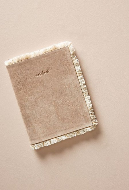 Taupe Fringed Memory Journal