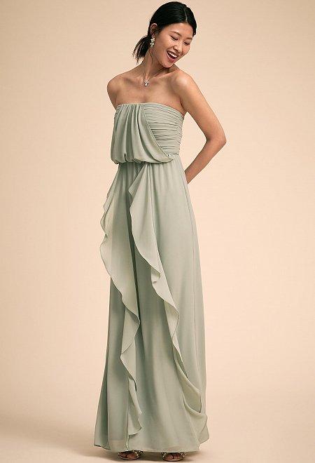 Cove Strapless Ruffle Dress