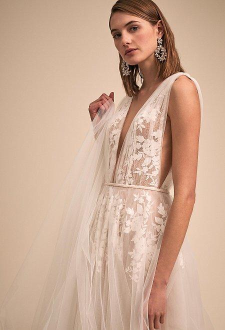 Abilene Floral Tulle Gown