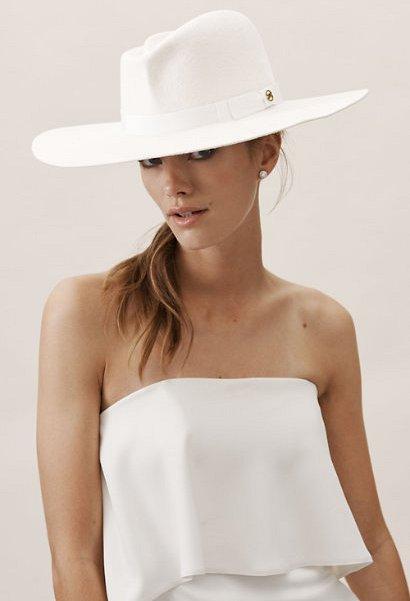 Hunter White Felt Hat