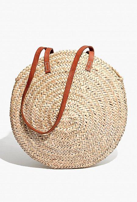Indigo&Lavender Large Woven Beach Bag