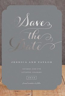 Gold Foil Custom Save the Dates