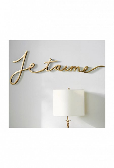 Je t'aime Sculptural Art